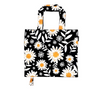 Floral print foldable grocery bags and shopping bag