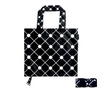 Folded and unfolded shopping bag in diamond pattern