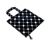 Timeless diamond print in navy and white foldable travel bag