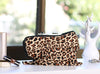 Clutch and wristlet leopard print dust bag