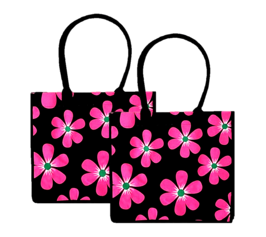 2 Pack Fresh Floral Shopping Bags | 100% Cotton