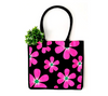 Eco friendly shopping bags in fun floral print
