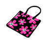 Floral Print Shopping Tote Bag | Side view