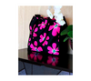 Floral print shopping bag