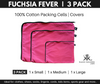 3 Pack Fuchsia Fever 100% Cotton Covers. Small. Medium. Large