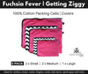 Fuchsia Fever (pink) and Getting Ziggy (chevron print) Packing Cells. 5 Pack