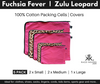 Pink and animal print packing cells and cover set