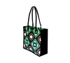 Gusset view of geometric tote bag
