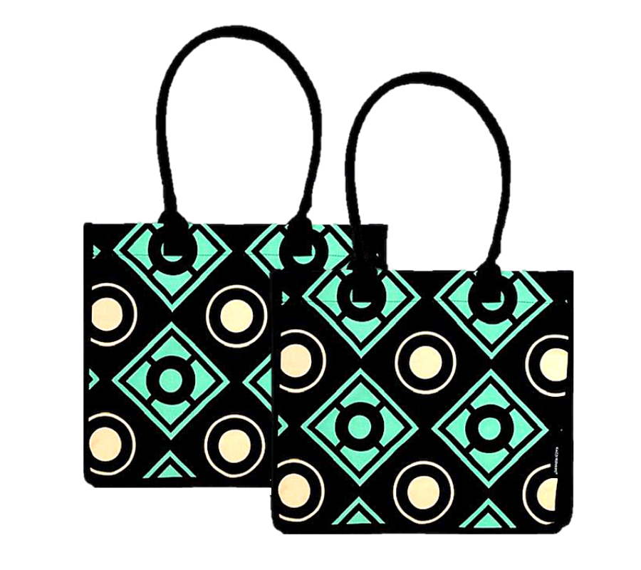 2 Pack Bold Geometric Shopping Bags