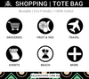 Shopping Tote Bag Uses | Bold Geometric Pattern