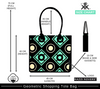 Bold Geometric Size Chart for Shopping Bag