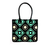 Geometric circle pattern on reusable shopping bag