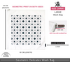 Size chart for large geometric print | Delicates laundry bags