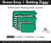 Green Envy and Getting Ziggy Chevron Packing Cells Covers
