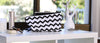 Zig-zag chevron print clutch, wallet and wristlet dust bag