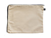 Beige cotton bag with double-sided zip for fast access