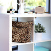 Leopard print 100% cotton handbag covers