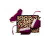 Lingerie travel bag in leopard print