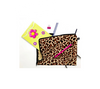 Notepad and accessories in leopard print cotton bag