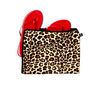 Leopard print shoe bag. 100% cotton. For travel or storage.