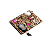 Leopard print electronics and accessories bag