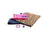 Kids clothes and accessories bag in leopard print.