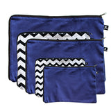 Chevron-black-and-white-navy-blue-packing-cells