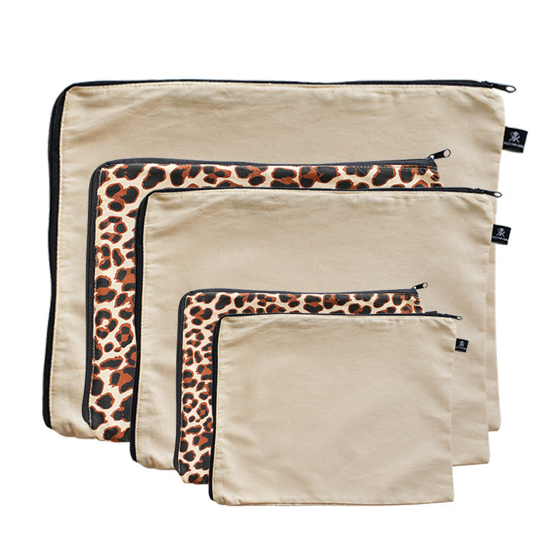 Zulu Leopard & Latte Love 5 Pack Combo | 100% Cotton