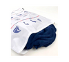 Red, white and blue large blanket laundry bag in nautical print