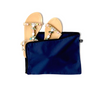 Navy blue shoe bag with casual shoes