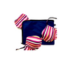 100% Cotton navy lingerie bag with underwear