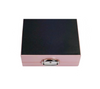 Black base view of jewellery case in pale pink