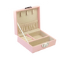 Pink jewellery case with four different compartments
