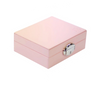 Modern pink jewelry box for little girl, for a gift and for travelling.