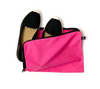 Casual sports shoes in pink cotton bag