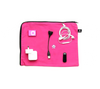 Pink 100% cotton electronics, cords and accessories travel bag