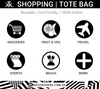 Shopping Tote Bag Uses | Black and White Chevron