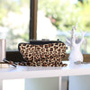 Clutch bag dust covers in leopard print