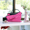 Pink 100% cotton zipped dustbags for clutches, wallets and wristlets