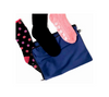 Navy blue sock and storage bag