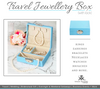 Jewellery storage box for home and travel purposes