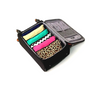 Carry on suitcase with 100% cotton vibrant coloured packing cells