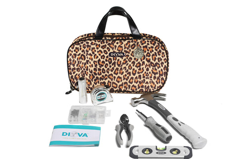 DIYVA by Barbara K The Home Repair Tool Kit (Leopard)