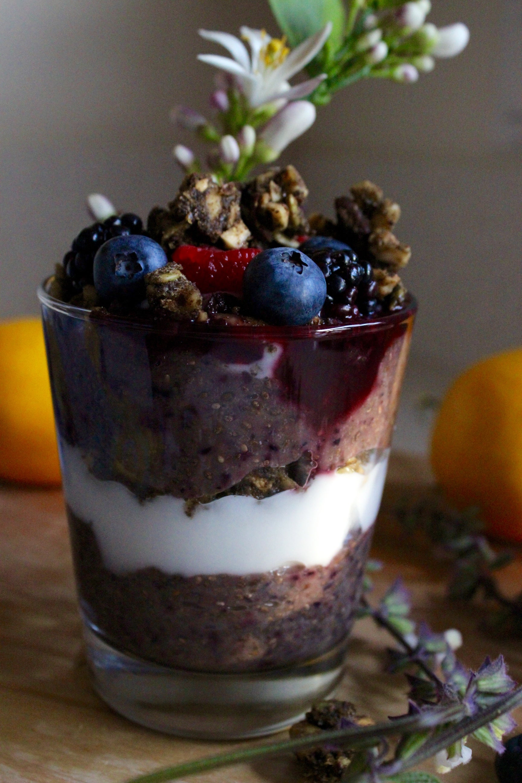Blueberry Parfait with Paleo Granola