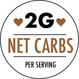 2 grams of net carbohydrates per service