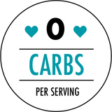 0 carbohydrates per serving