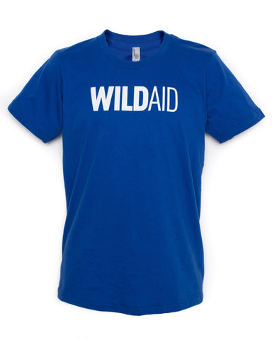 """WILDAID"" Unisex Crewneck Tee (Royal)"