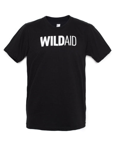 """WILDAID"" Unisex Crewneck Tee (Black)"