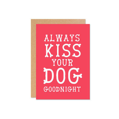Always kiss good night