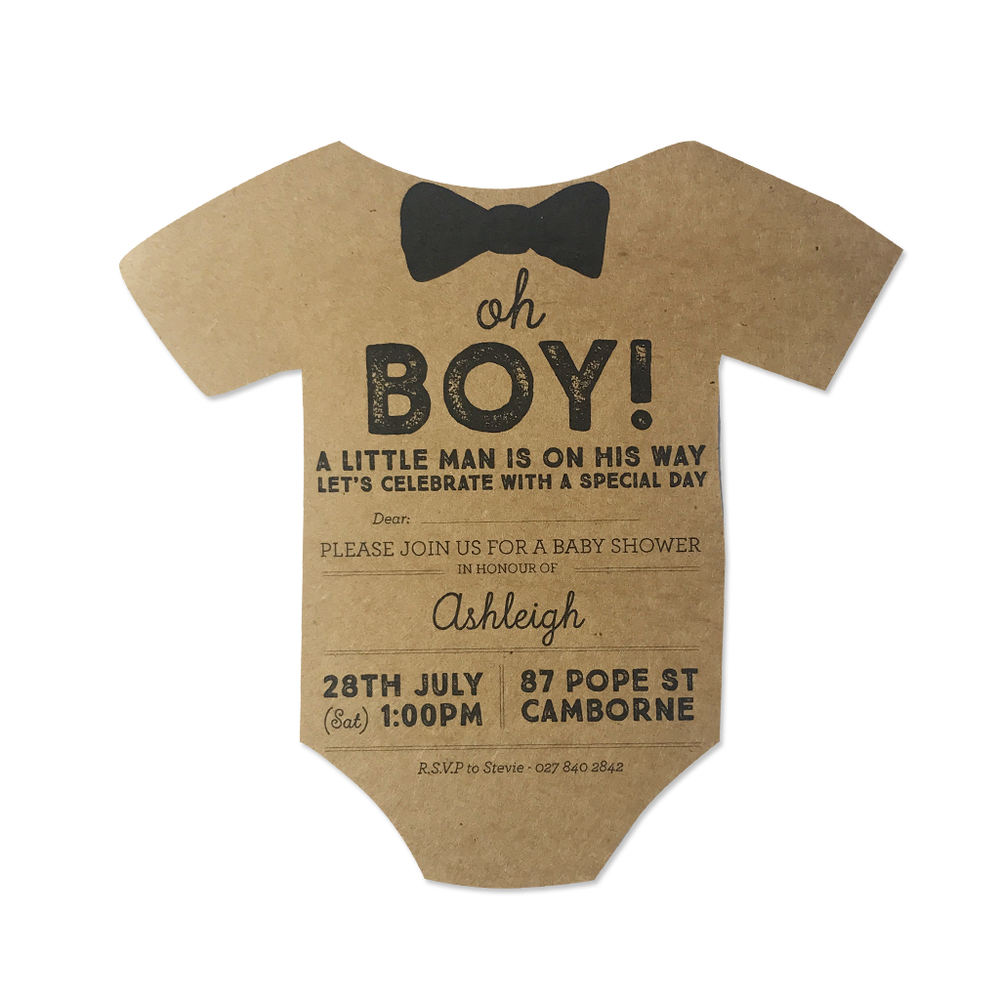 Oh Boy! Baby Shower Invitation